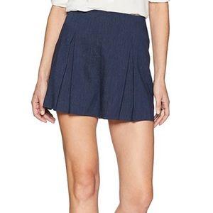BCBG Pinstripe Pleated Shorts